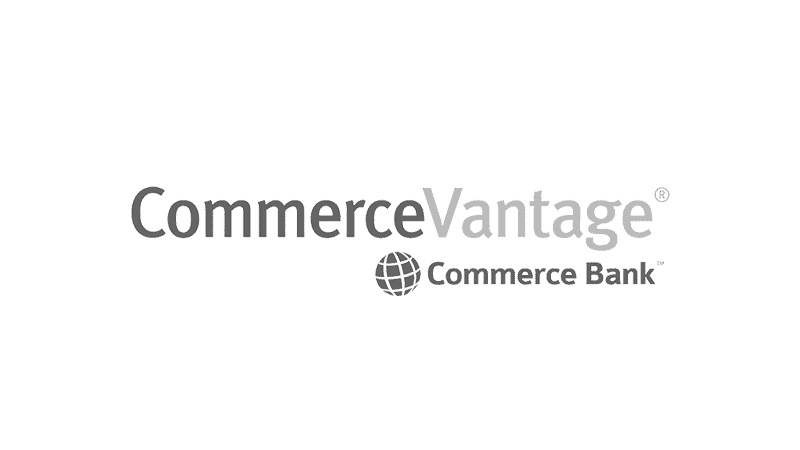 Commerce Vantage Commerce Bank logo.